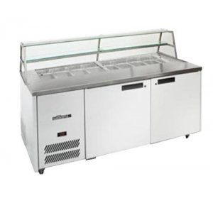Sandwich Preparation Counter Two Door with Canopy Blown Air Well Williams HJ2SCBA