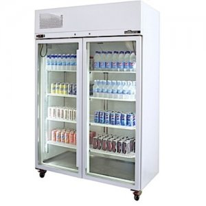 White Pearl Star Freezer Two Glass Door Williams
