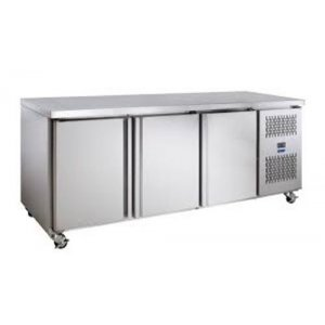 Stainless Steel TOPAZ Undercounter Fridge Three Solid Door Williams